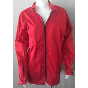PATAGONIA RED FULL ZIP WINDBREAKER RAIN JACKET L
